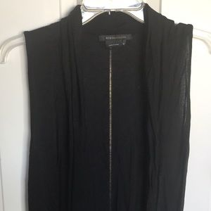 BCBG MazAzria Black vest cardigan with pockets